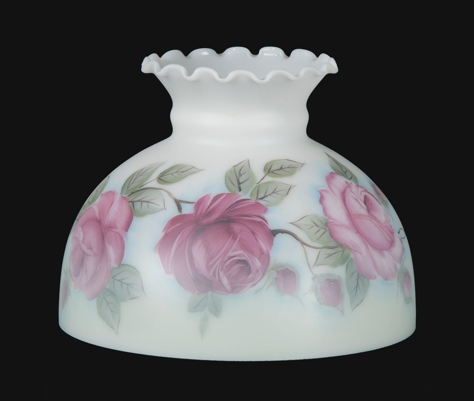 10 Hand Painted Antique Roses Lamp Shade 01055 B Amp P Lamp