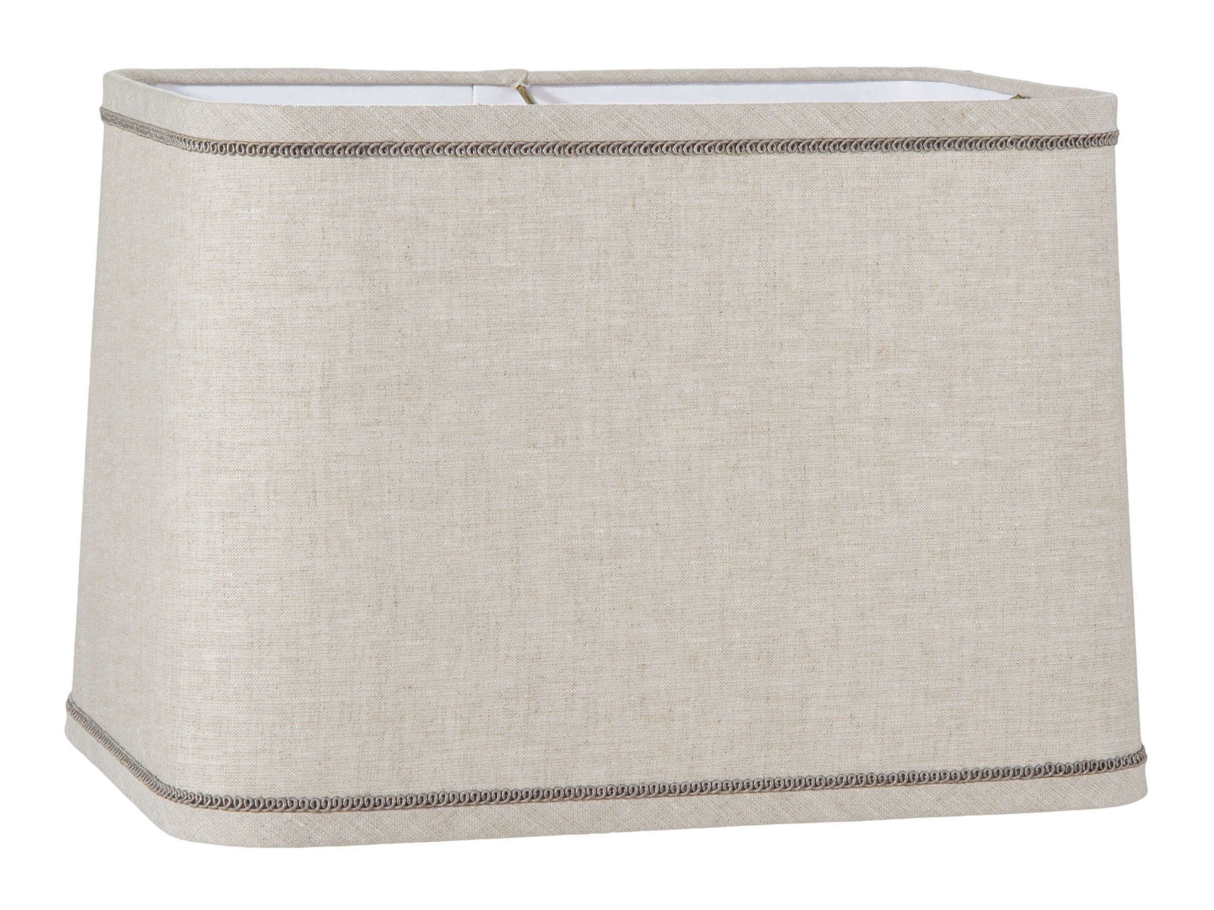 Natural Linen Round Corner Rectangle Lampshade 05648a B