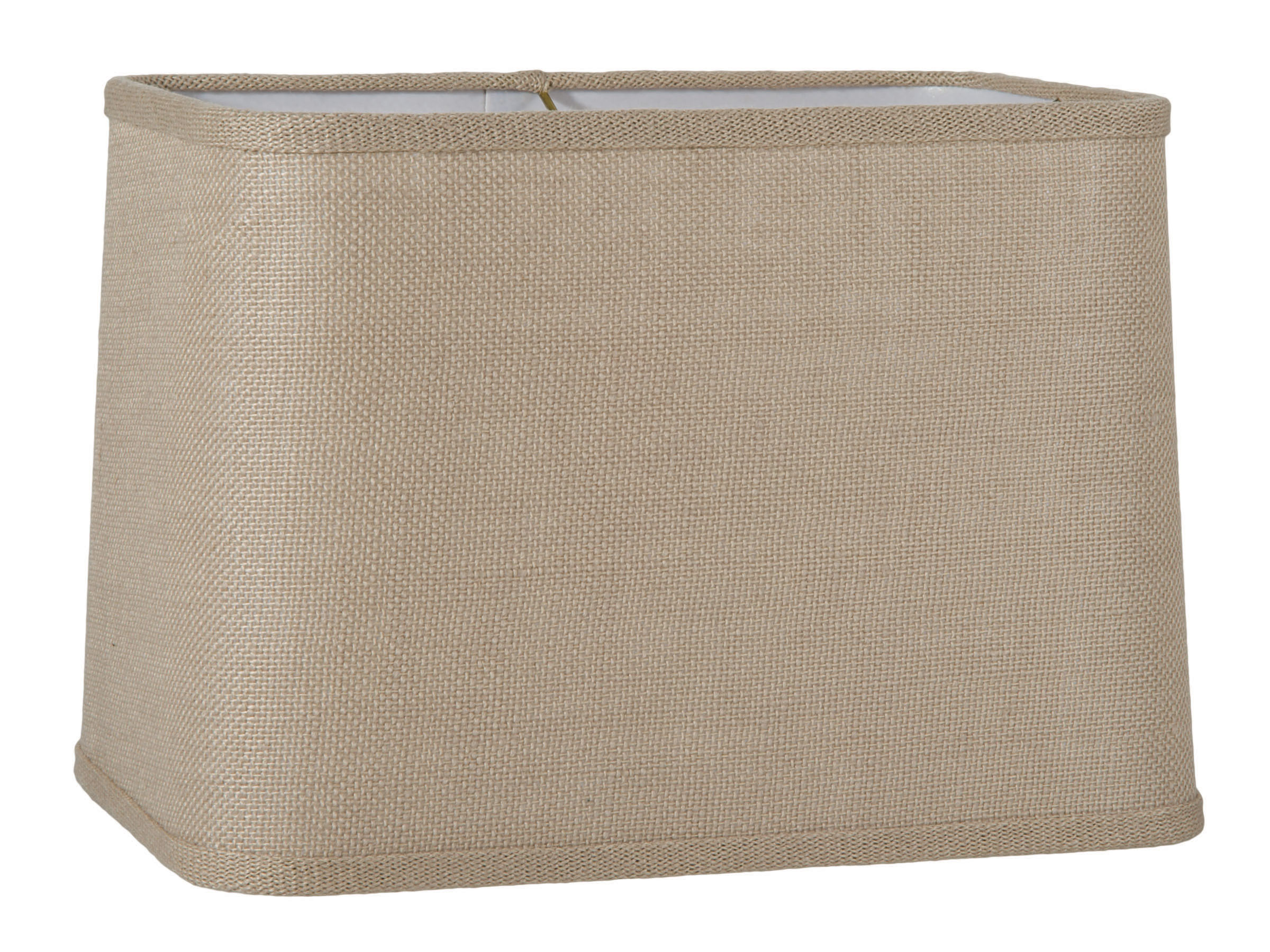 Driftwood Burlap Round Corner Rectangle Lampshade 05649p