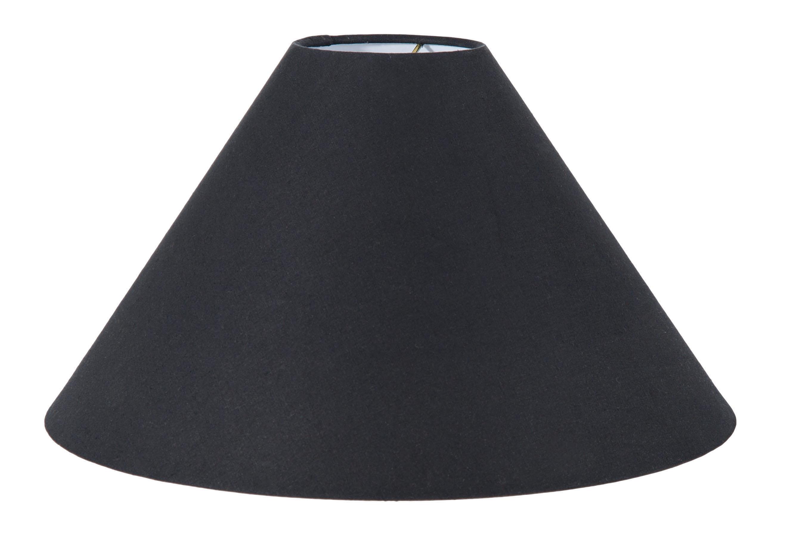 Black Linen Cone Lampshade 05652n B Amp P Lamp Supply