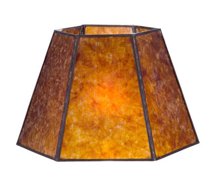 Antique Amber Hexagon Style Mica Lampshade 05702m B Amp P