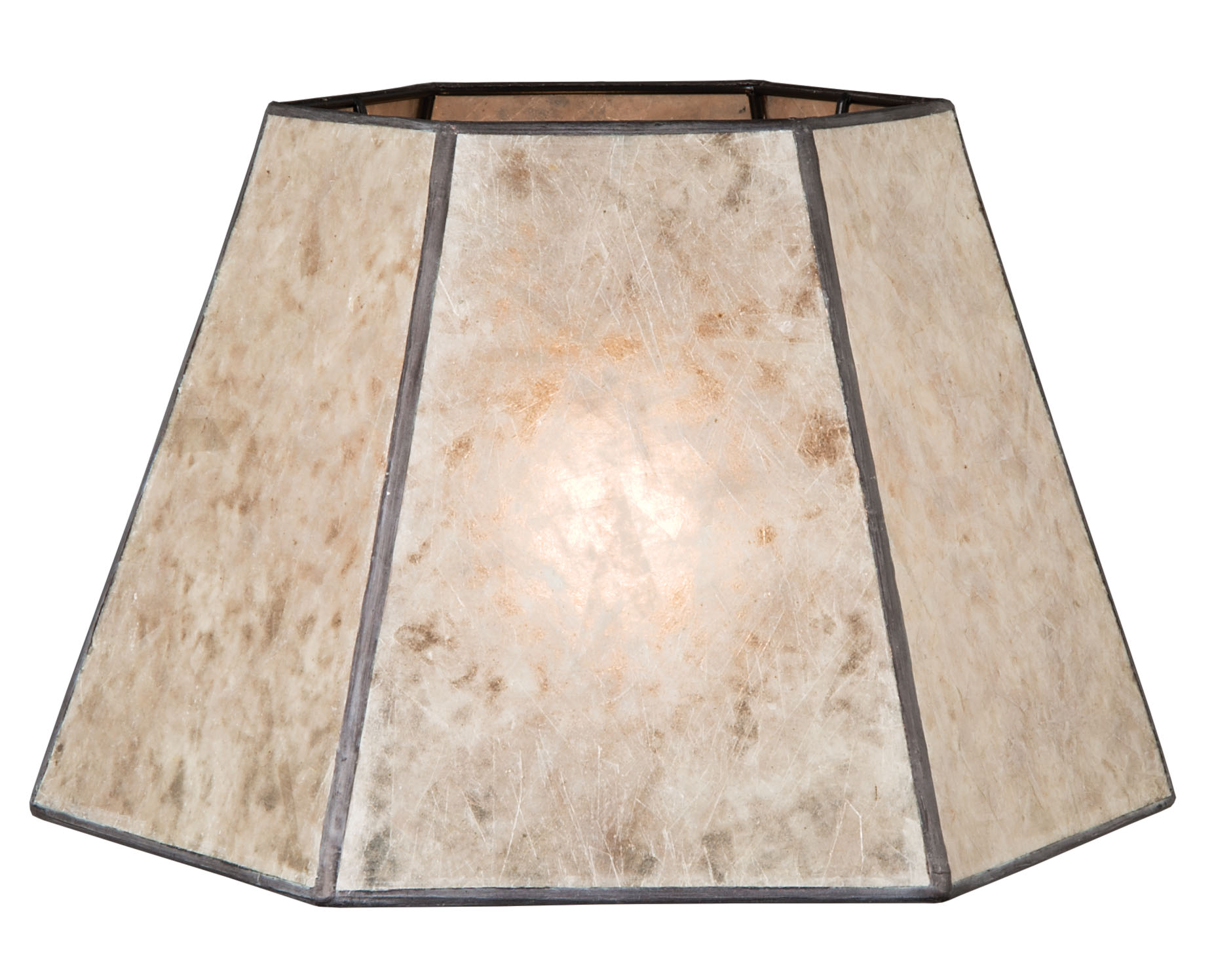 Parchment Color Hexagon Style Mica Lampshade 05702n B Amp P
