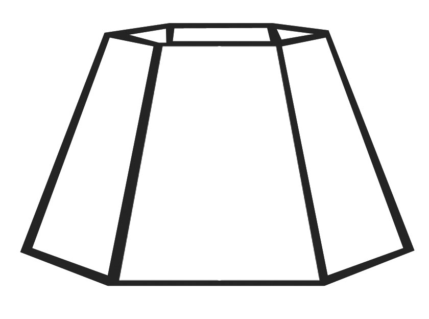 05702N   Parchment Color Hexagon Style Mica Lampshade