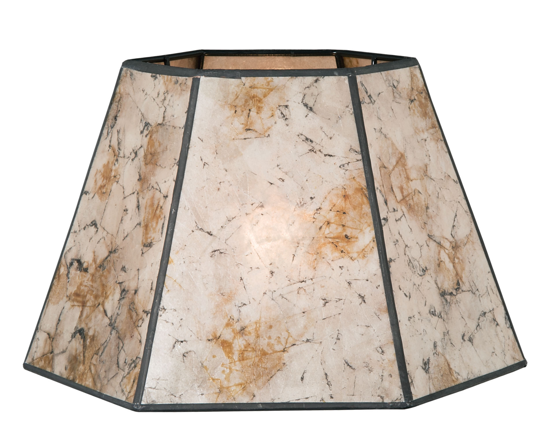Onyx Color Hexagon Style Mica Lampshade 05702s B Amp P Lamp