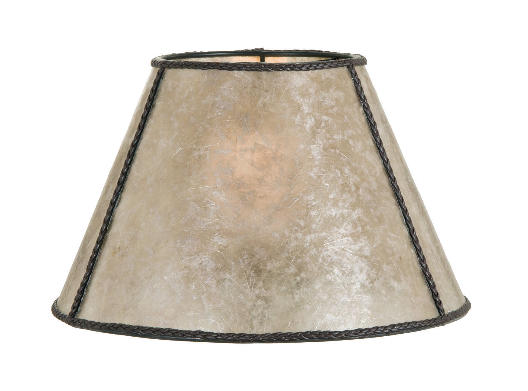 Parchment Empire Style Mica Lamp Shade 05717n B Amp P Lamp