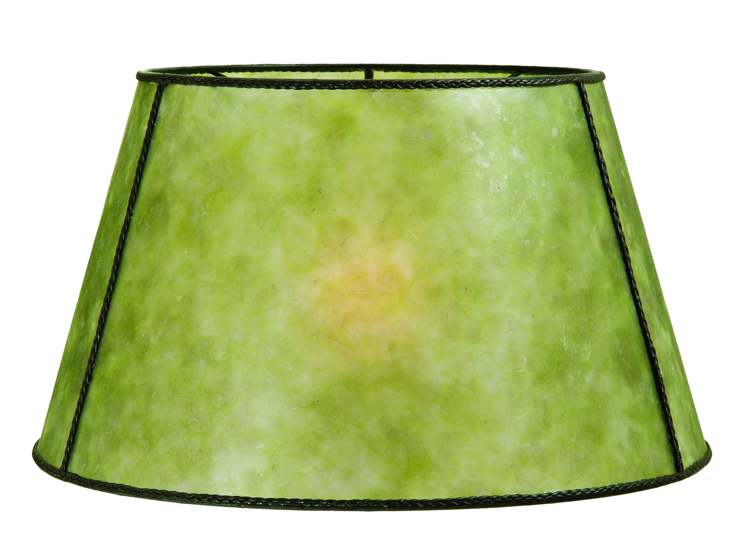 Green mica empire style floor lamp shade 05719g bp lamp for Floor lamp with green shade