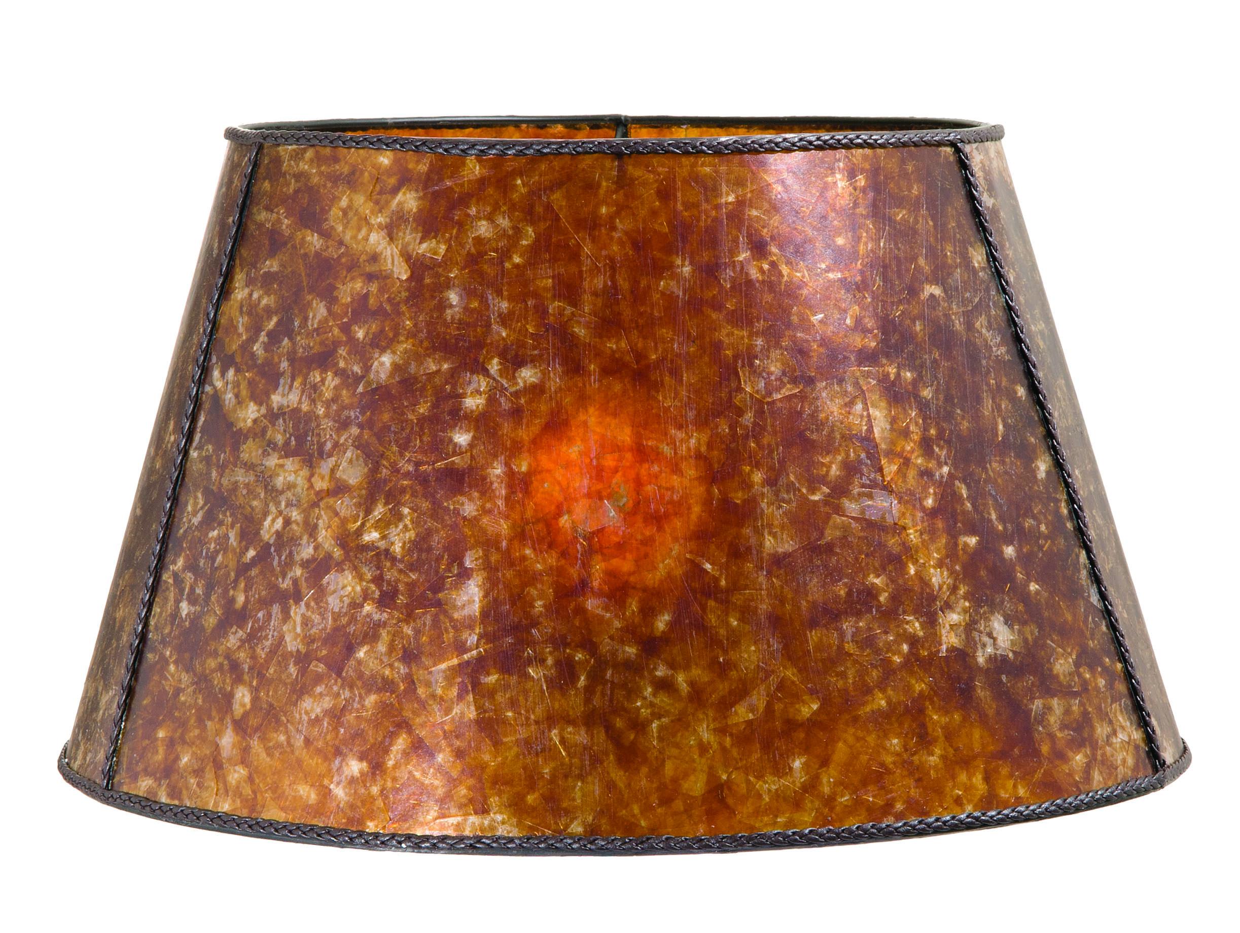Amber Mica Empire Style Floor Lamp Shade 05719m B Amp P Lamp