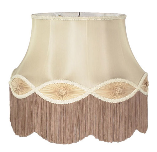 Champagne Floor Lamp Gallery Bell With Fringe Trim 05822