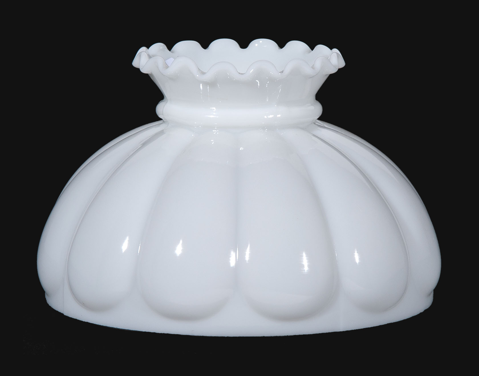 10 Opal Glass Melon Shade Crimped Top 06051 B Amp P Lamp Supply