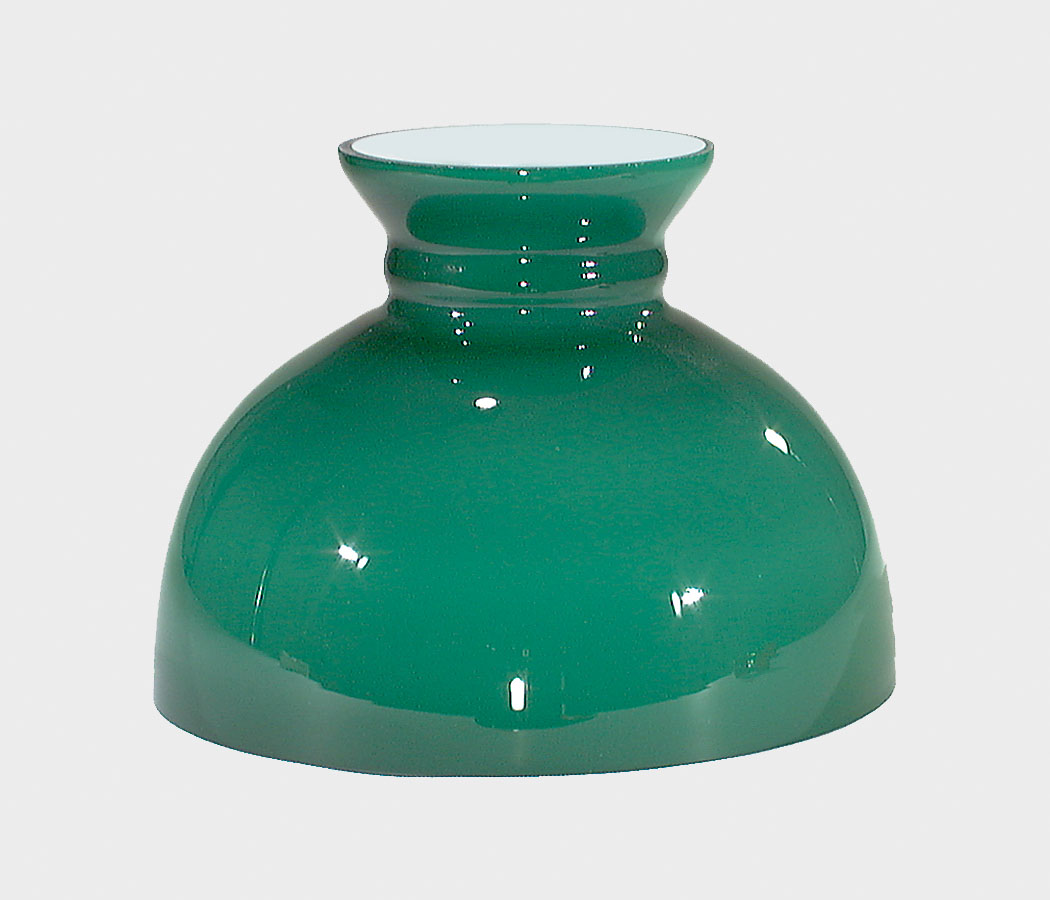10 opal glass green cased student shade 06064 bp lamp supply 06064 10 opal glass green cased student shade aloadofball Images