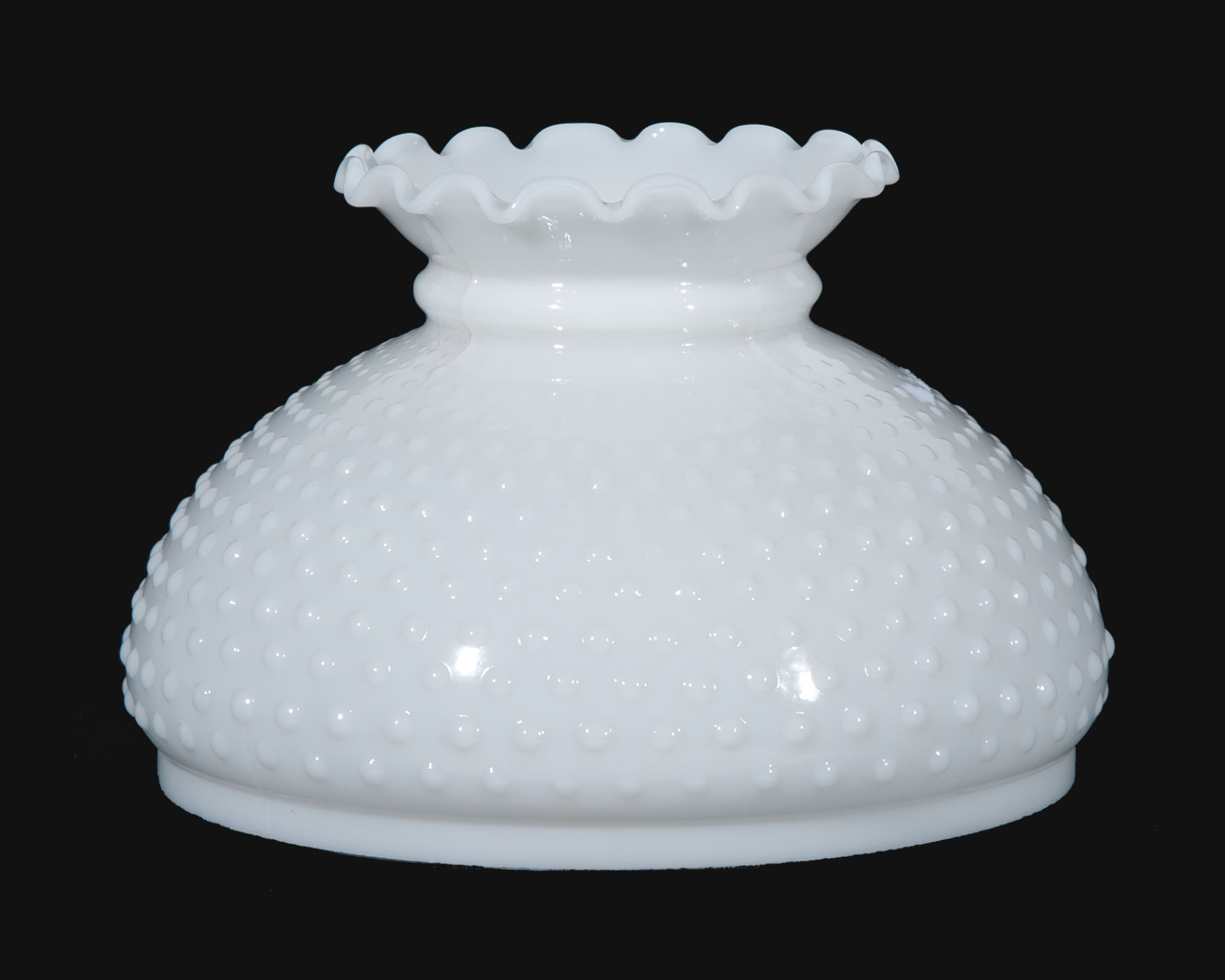 10 Opal Glass Hobnail Shade Crimped Top 06160 B Amp P Lamp