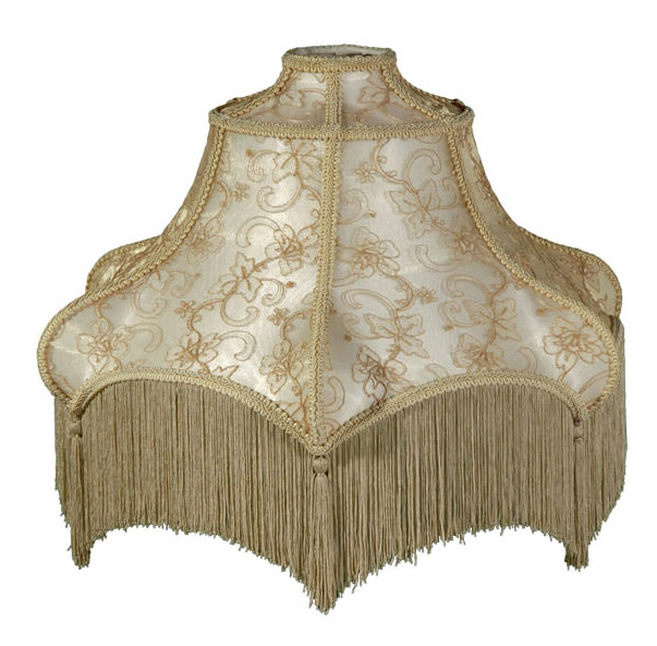 Beige And Champagne Floor Lamp Victorian Style Shades