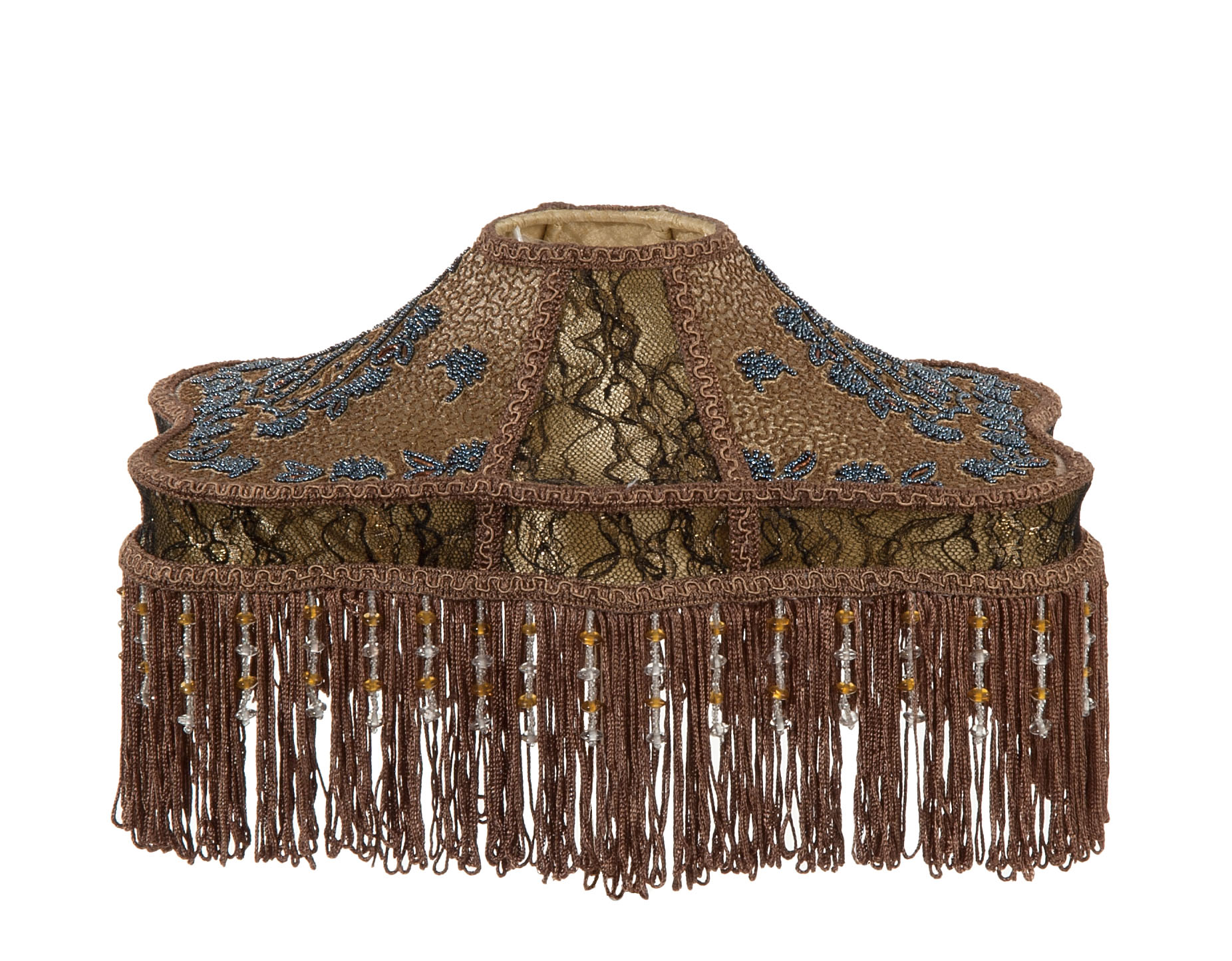 Beadwork Amp Stipple Embroidery Table Shade 06963s B Amp P