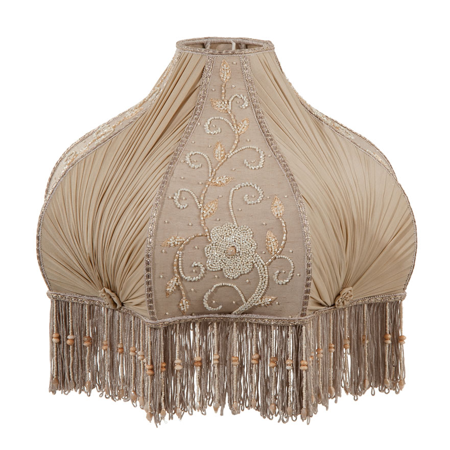 Victorian Antique Buff Pleated Chiffon and Embroidered ...