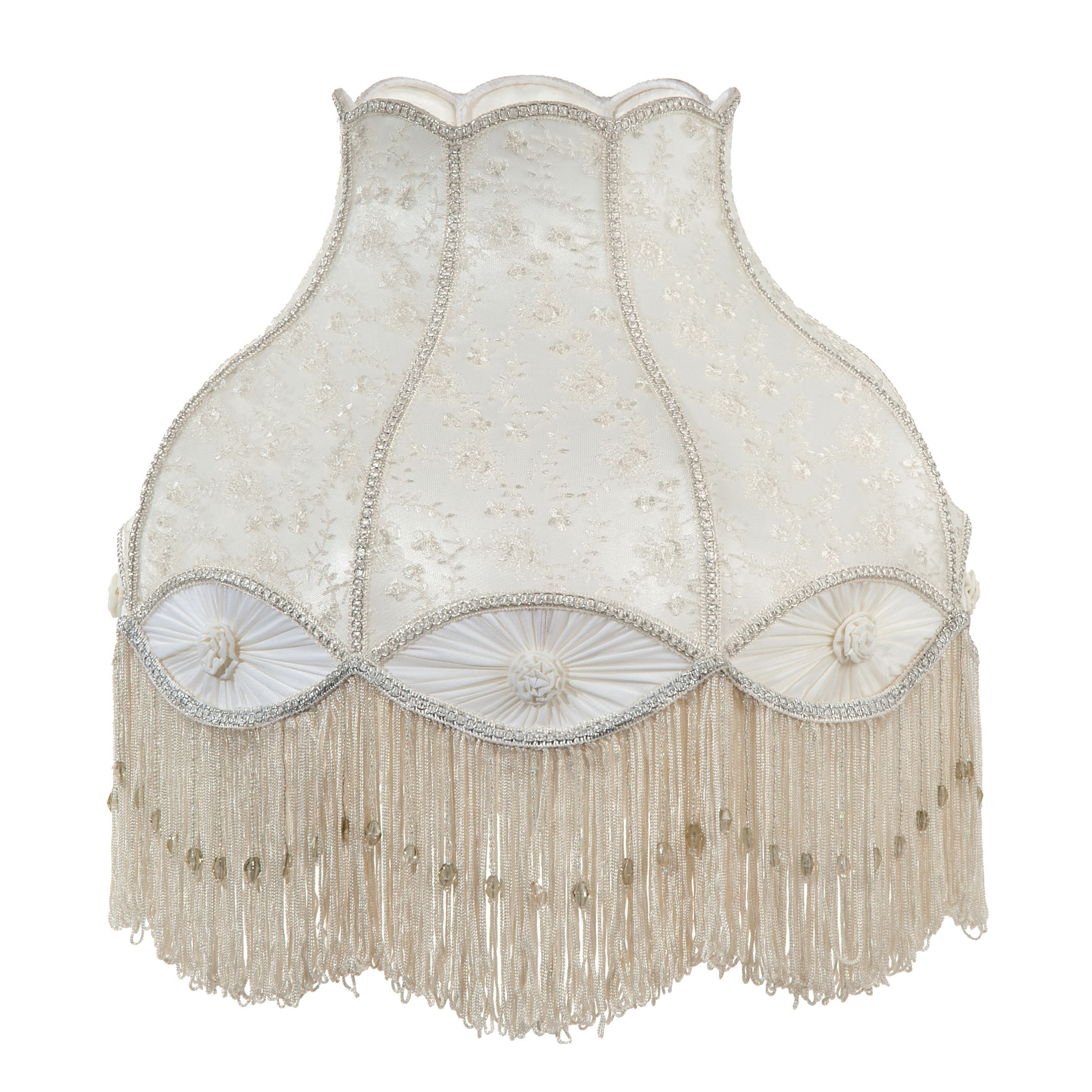 Victorian Style Ivory Color Bell Shaped Lace And Pleated