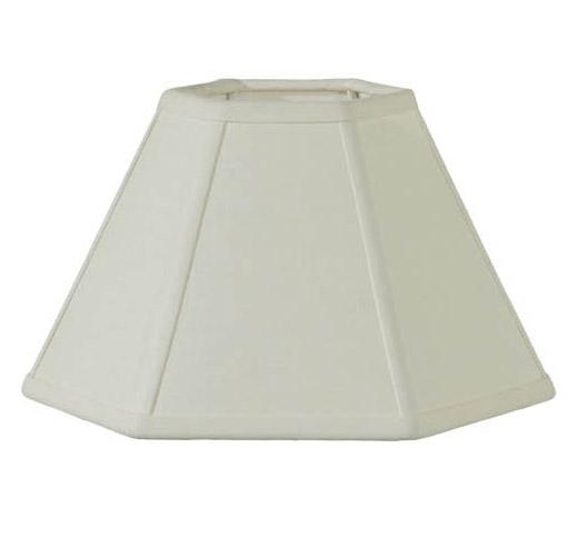 Ivory Linen Hexagon Hardback Shade 06982i B Amp P Lamp Supply