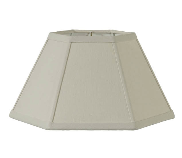 Beige Linen Hexagon Hardback Shade 06983c B Amp P Lamp Supply