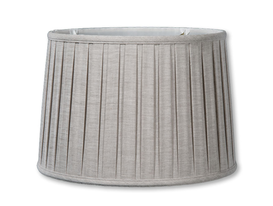 Natural Color Linen Drum Box Pleat Softback Shades 07200a