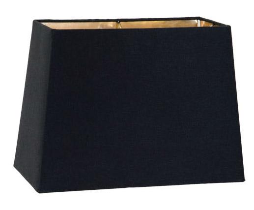 Black Tapered Retro Rectangle Hardback Lampshades 07243k