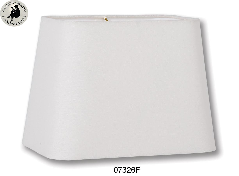 Off White Color Round Corner Rectangle Hardback Shades
