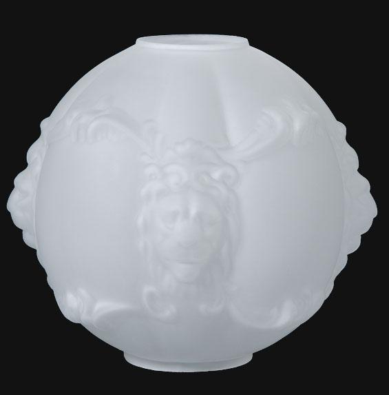 11 Satin Crystal Shade Lion S Head 07515 B Amp P Lamp Supply