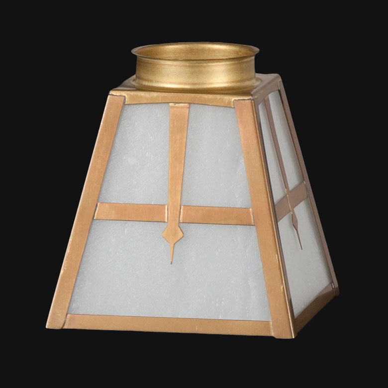 2 1 4 Fitter Arts Crafts White Seeded Frosted Glass Fixture Shade 07919w B P Lamp Supply