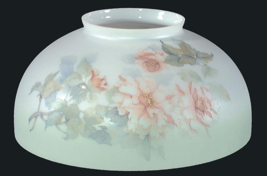 14 Usa Made Peonies Dome Shade Or Font 08034 B Amp P Lamp Supply