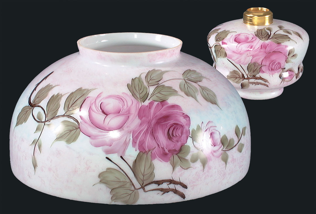 14 Hand Painted Queen Elizabeth Dome Shade And Font 08037 B Amp P Lamp Supply