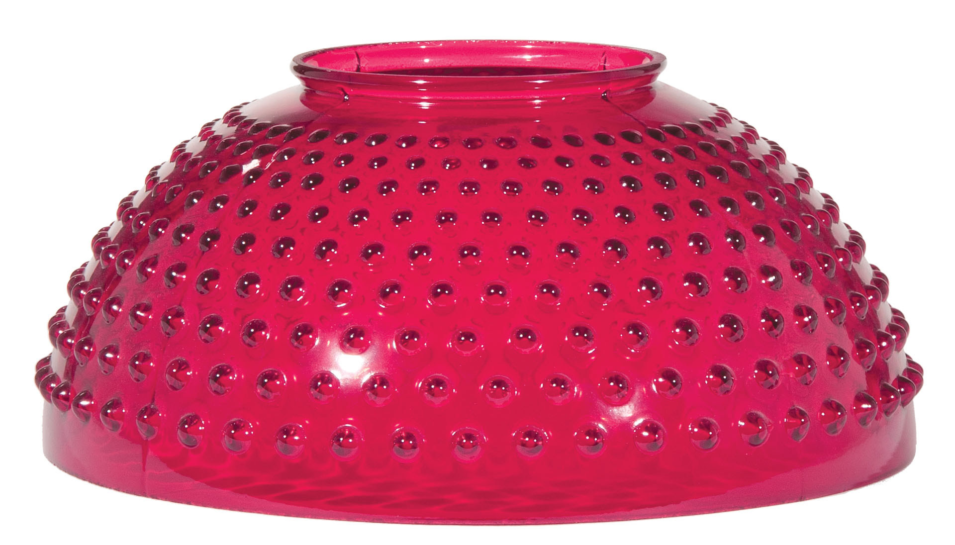 14 Cranberry Hobnail Dome Shade And Font 08312 B Amp P Lamp