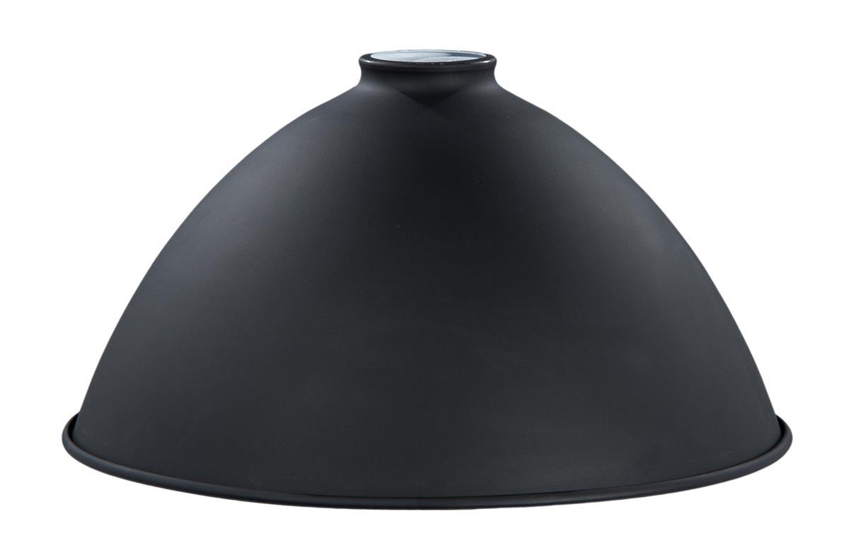 12 Metal Dome Lamp Shade Satin Black Finish 2 1 4