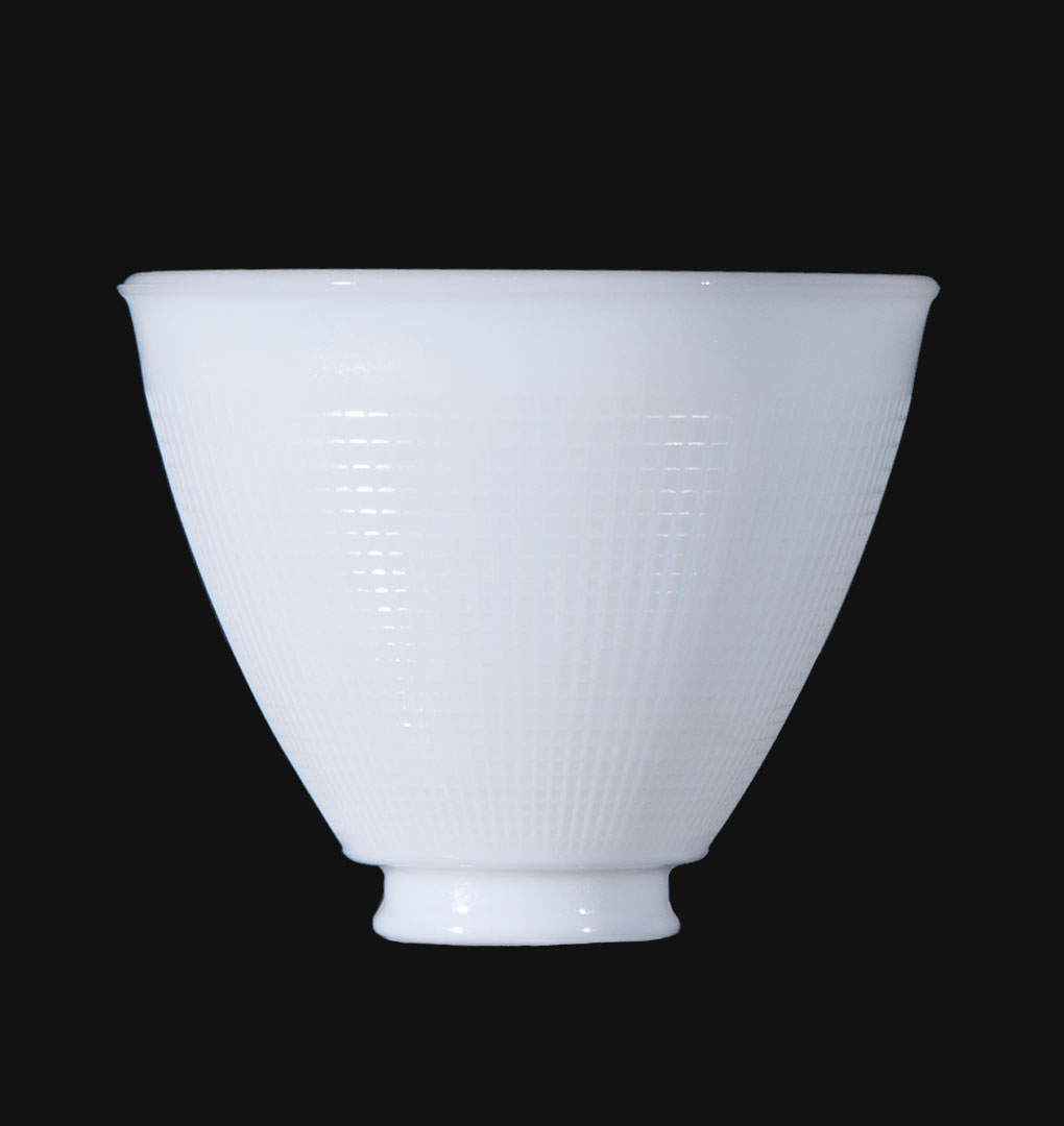 6 Ies Opal Glass Reflector Shade 08390 B P Lamp Supply
