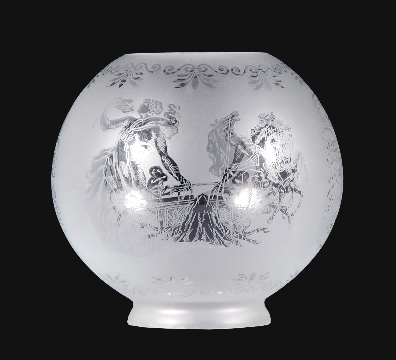 Etched Metal Lamp Shade: 8 Etched Gas Shade, Gladiator Scene 08597