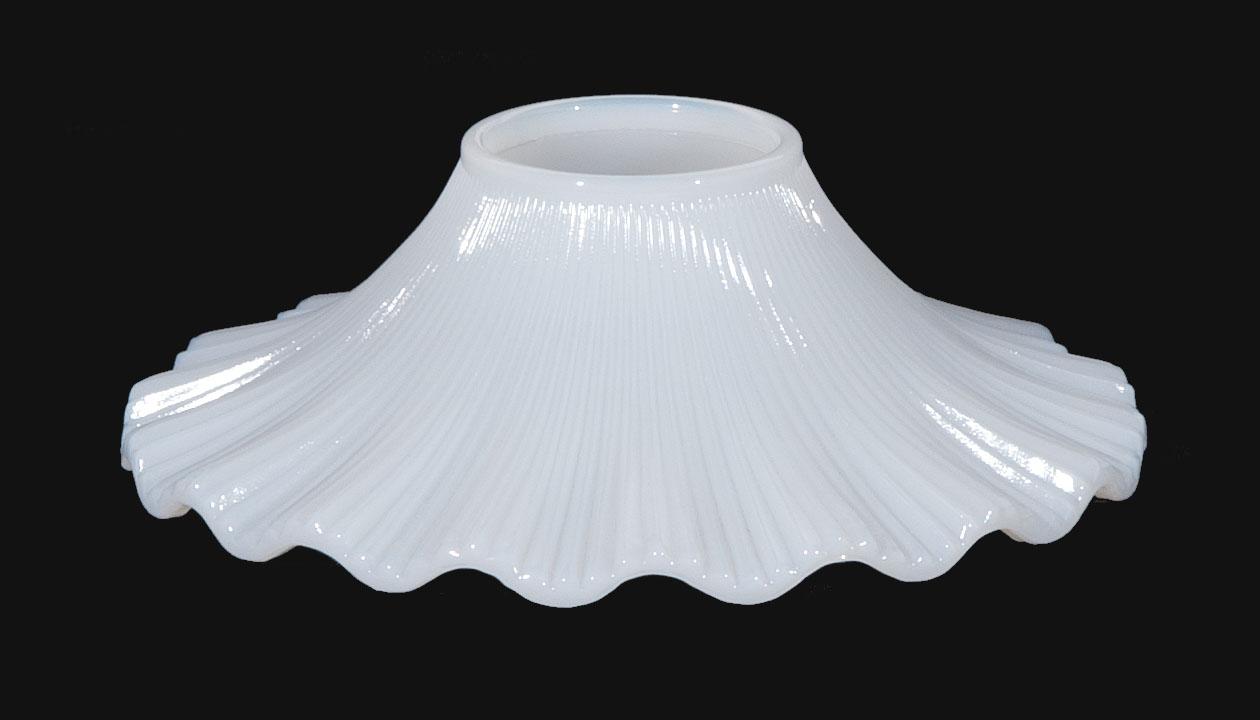 Opal Glass Petticoat Shade 08645 B Amp P Lamp Supply