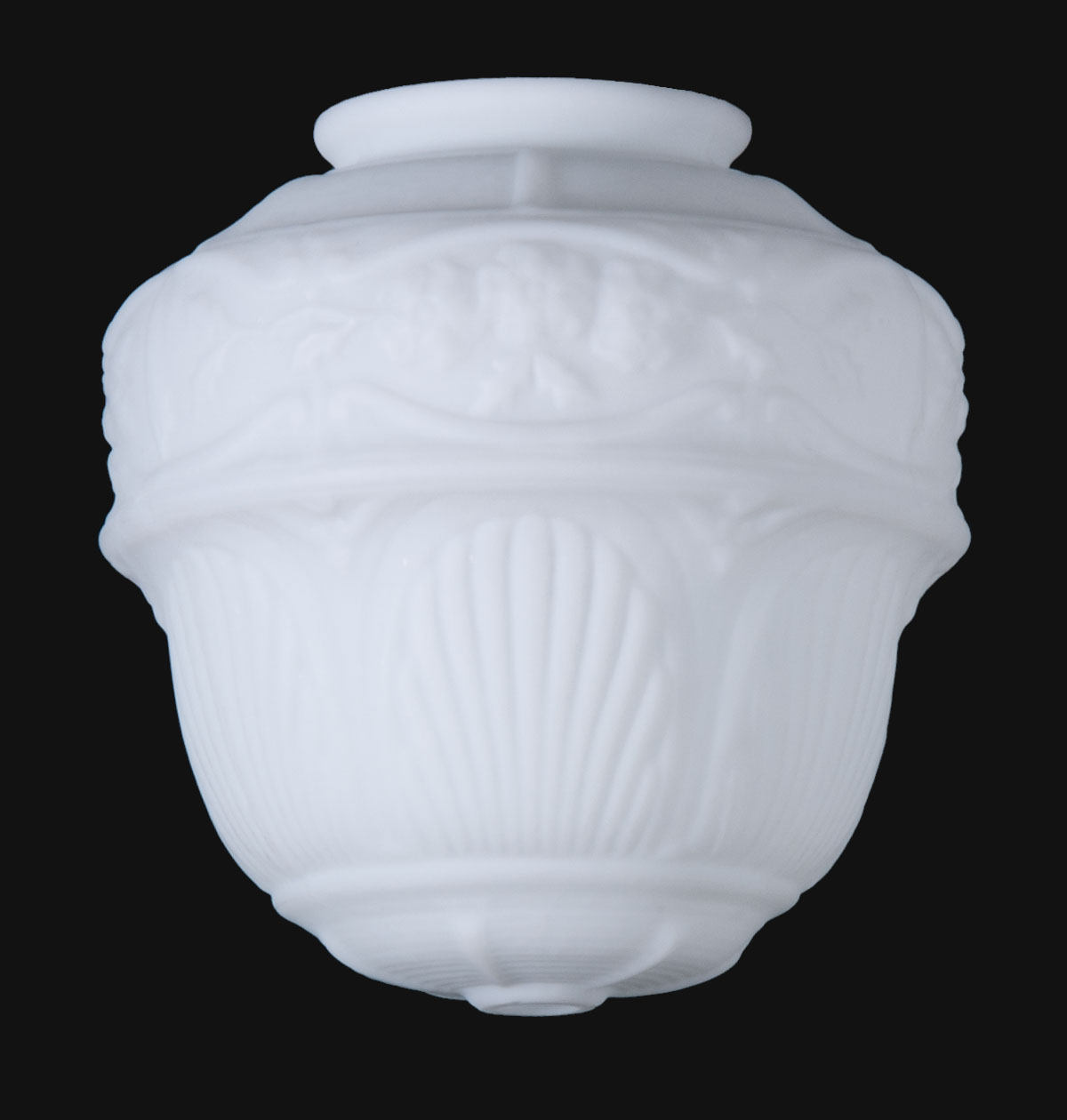 Opal Glass Embossed Hall Light Shade 08822 B Amp P Lamp Supply