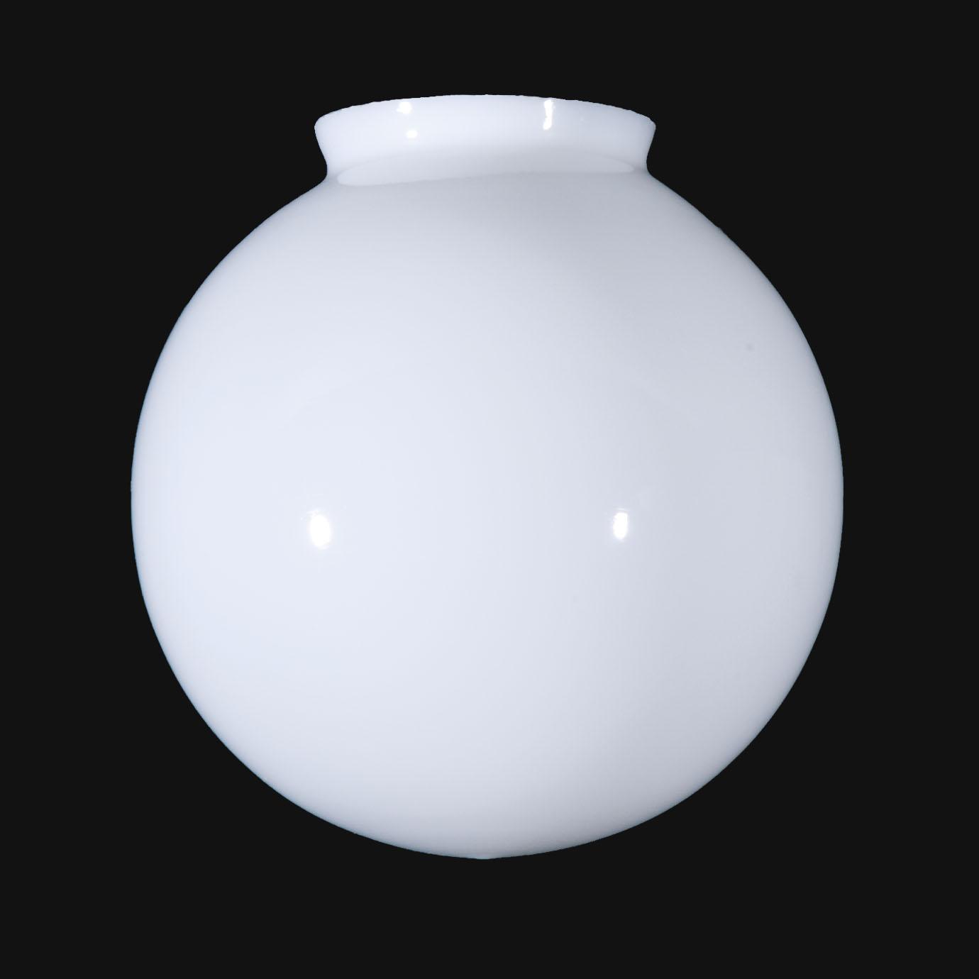 "B&P Lamp® 8"" Opal Glass Ball Lamp Shade"