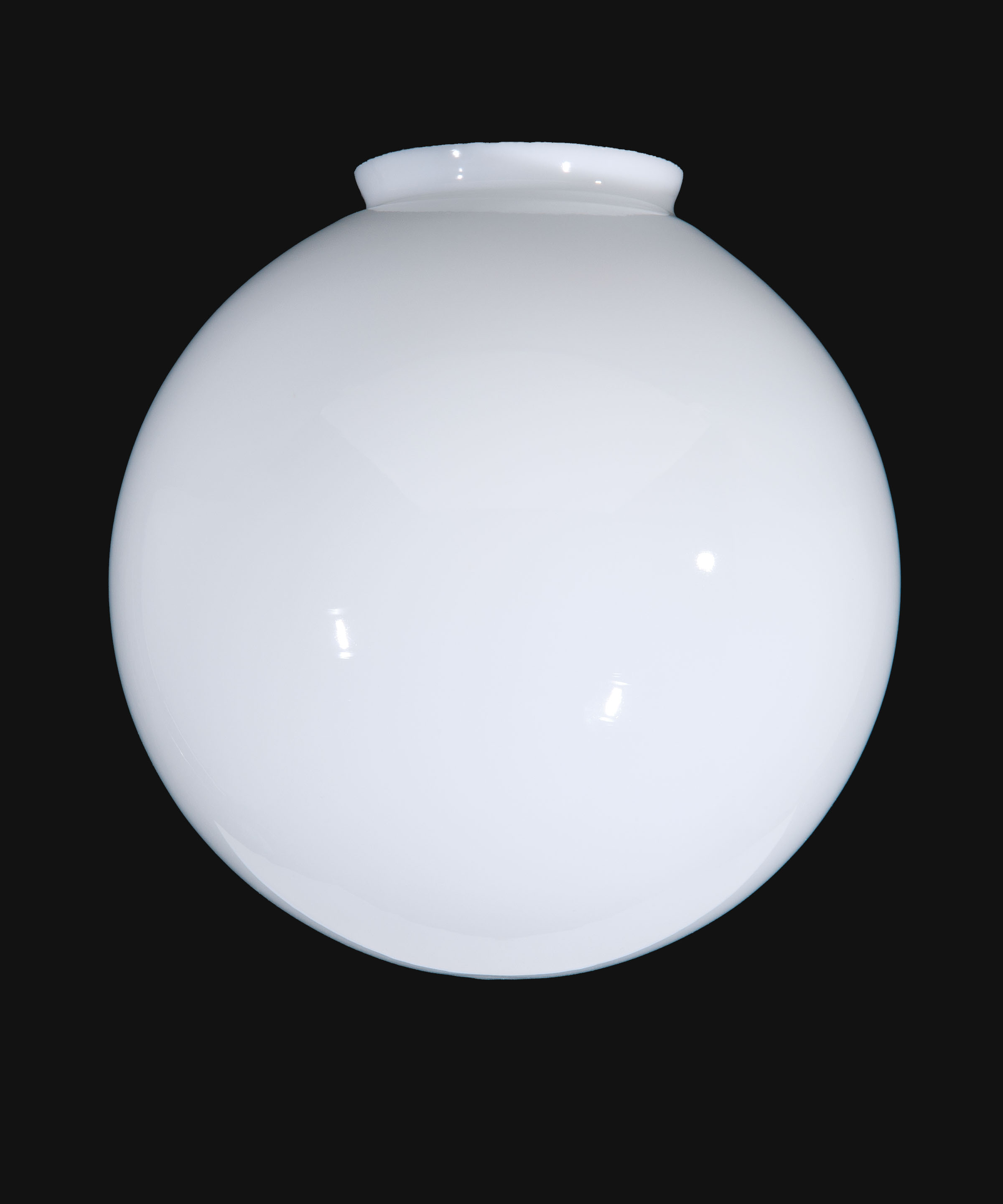 14 opal glass ball lampshade 08838 bp lamp supply hand blown opal glass ball shade american made aloadofball Images