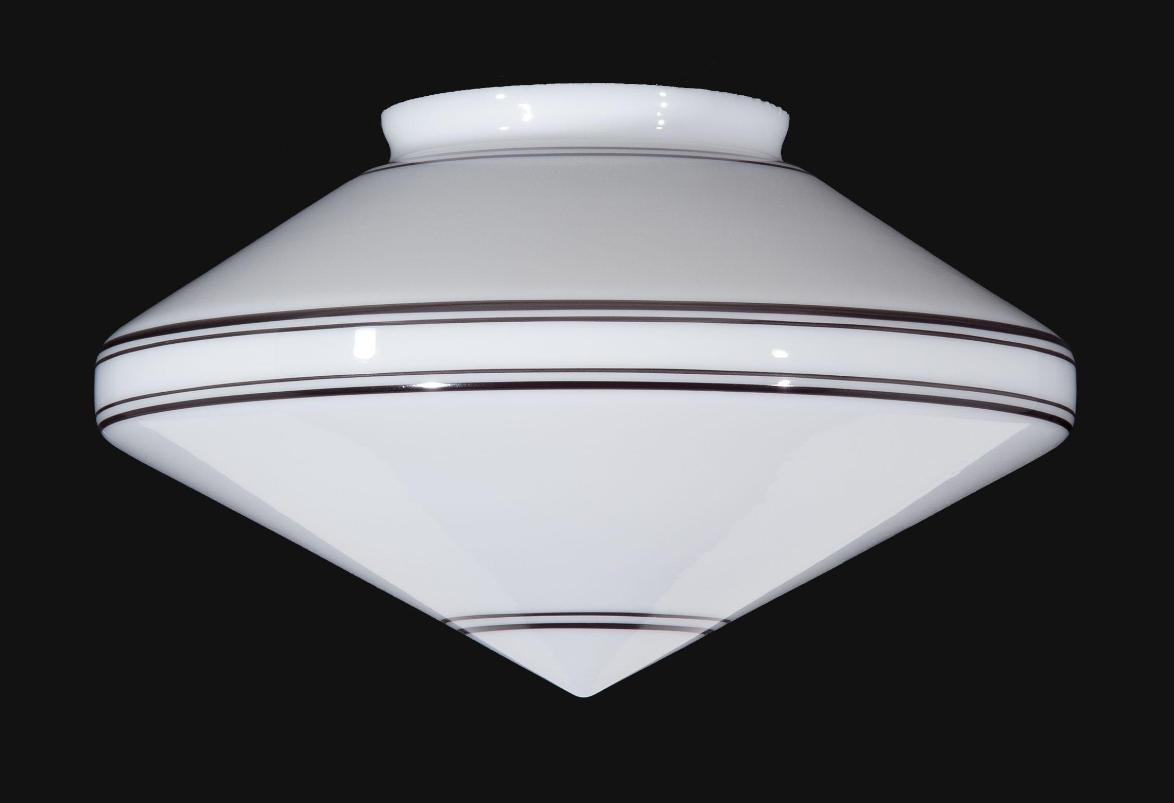 14 Striped Art Deco Pendant Shade 08846 B Amp P Lamp Supply