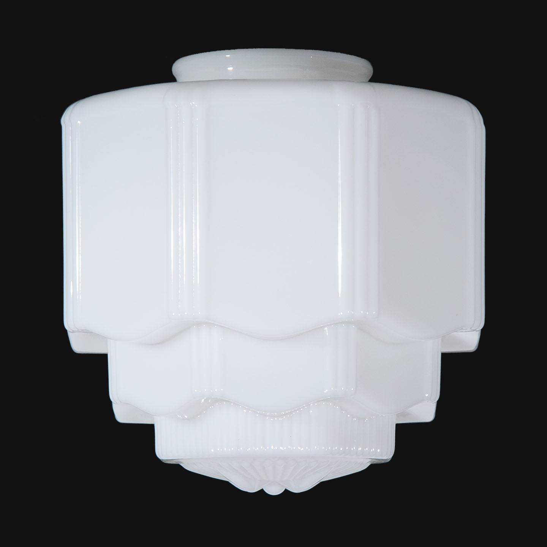 8 1 8 Opal Glass Art Deco Pendant Shade 08861 B Amp P Lamp