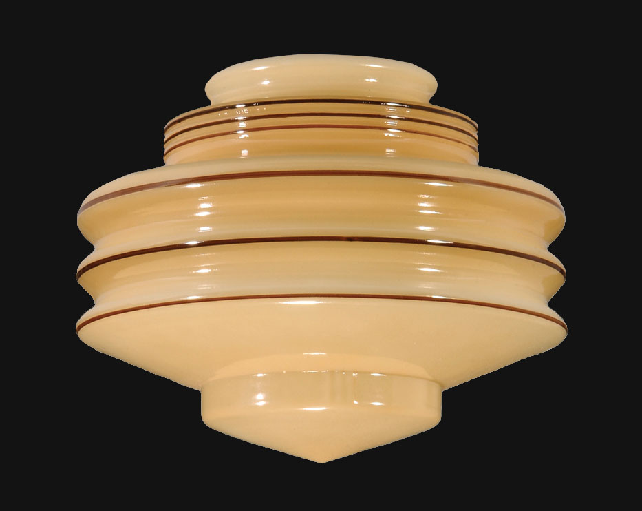 8 Nu Gold Art Deco Glass Shade 08881 B Amp P Lamp Supply