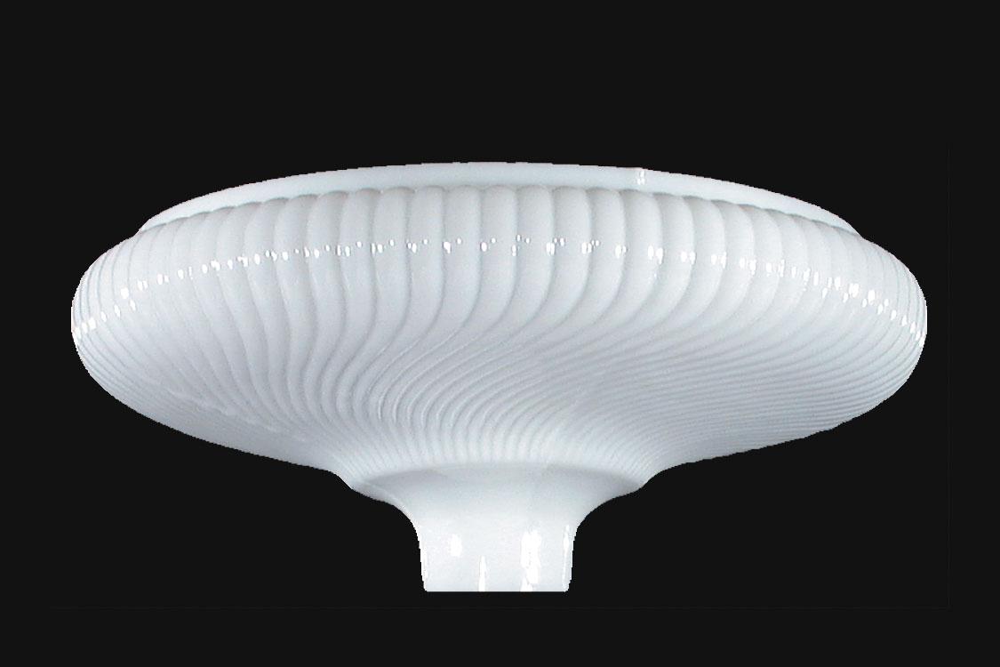 16 Opal Glass Rib Swirl Torchiere Shade 09021 B Amp P Lamp