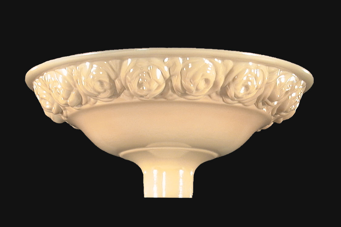 16 Nu Gold Embossed Torchiere Roses