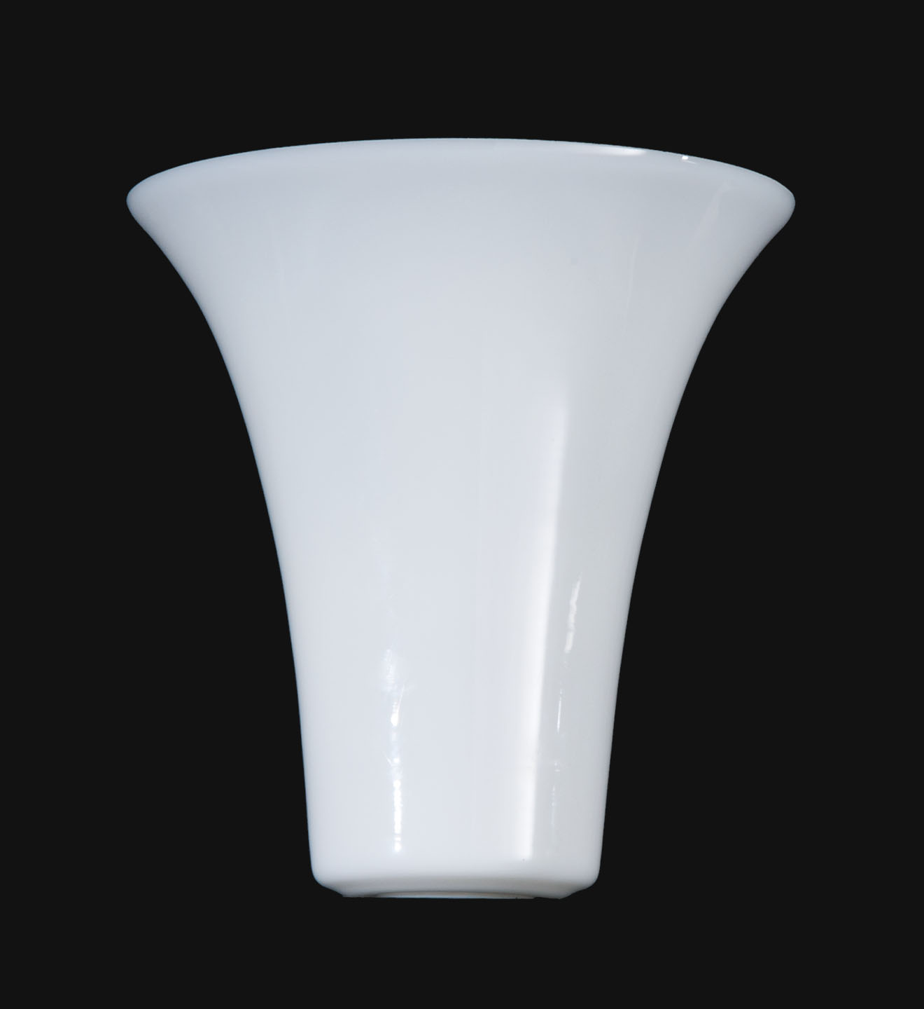 Opal Glass Tulip Shaped Torchiere Shade 09090