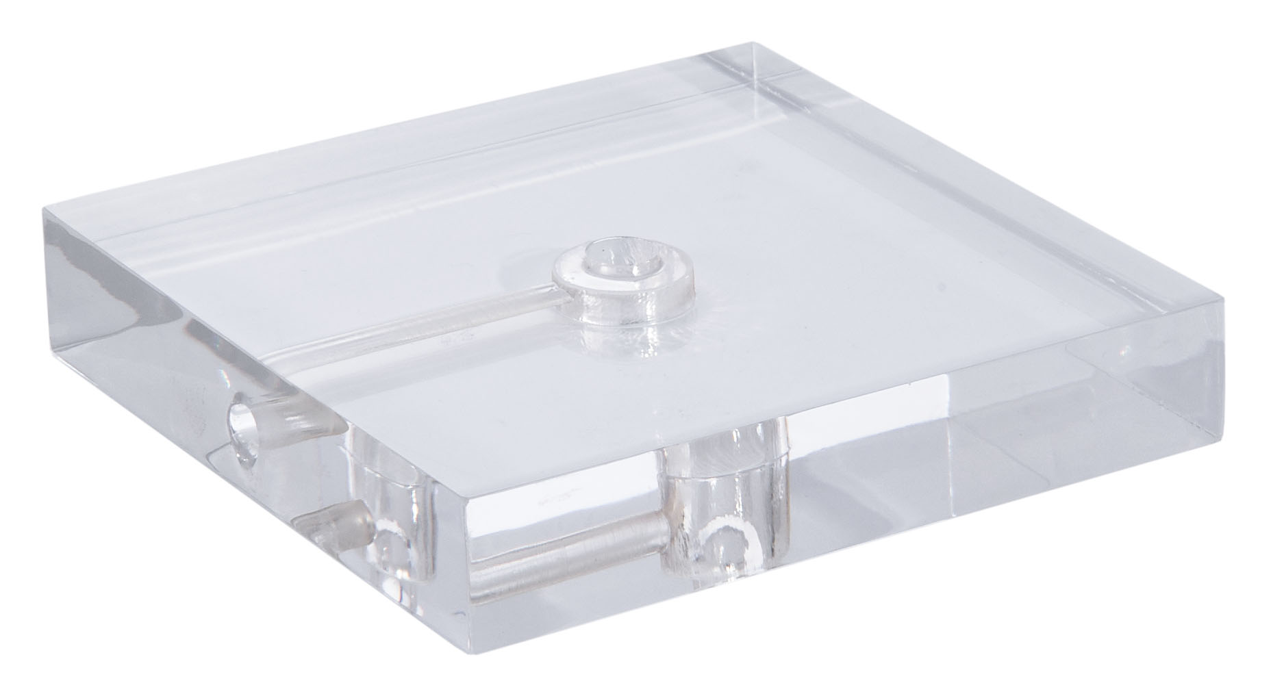 Clear Acrylic Square Lamp Bases W Wire Way 10287 B Amp P Lamp Supply