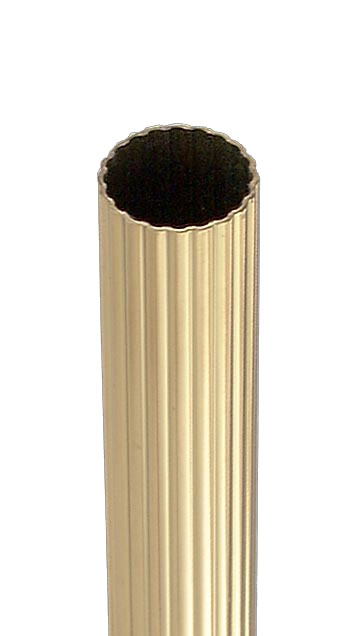 3 4 O D Reeded Brass Tubing 10359 B Amp P Lamp Supply