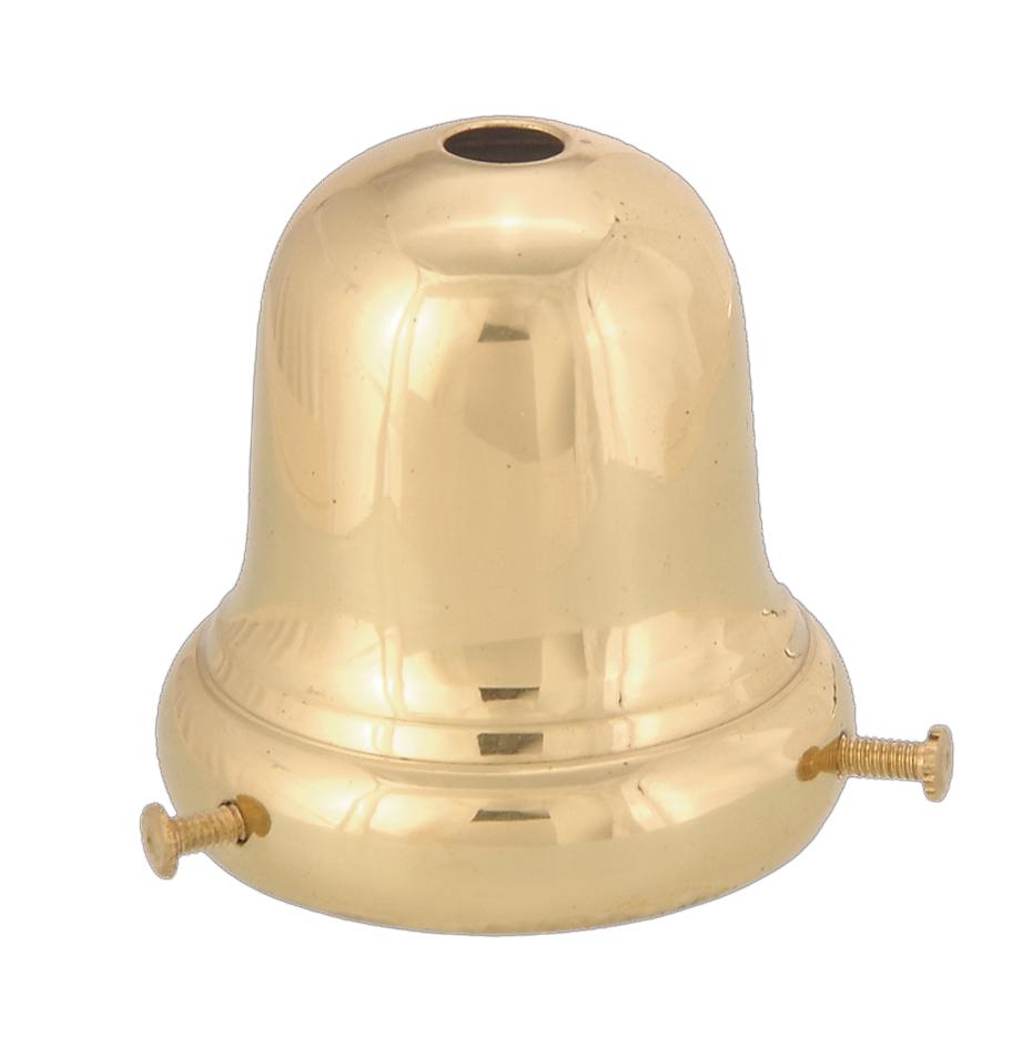 Metal Bell Lamp Shade: 2 1/4 Fitter, Bell-Type Fixture Shade Holder 10778U