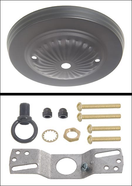 View image in new window  sc 1 st  Bu0026P L& Supply & Black Finish Steel Canopy Kit 5 dia. 10801B | Bu0026P Lamp Supply