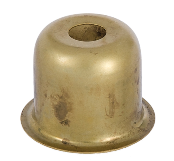 1 Inch Stamped Brass Candle Cup 11525u B Amp P Lamp Supply