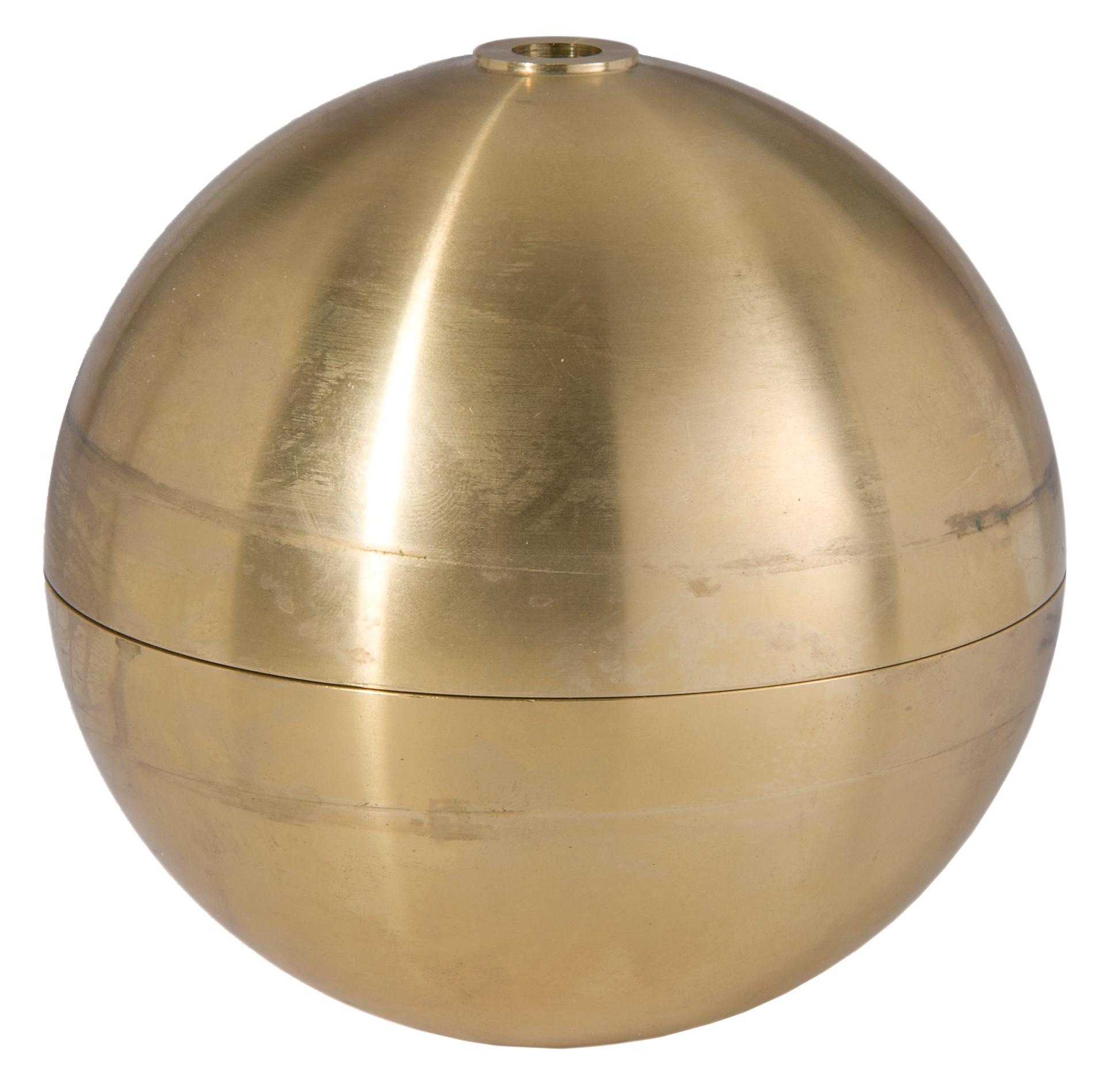 Metal Ball Lamp Shade: Large Hollow Brass Ball 11647U