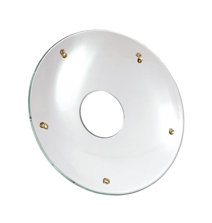 B/&P Lamp Pressed Glass Bobeche