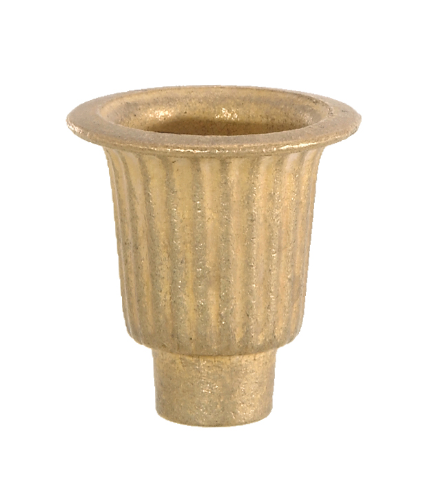 Cast Brass Candle Cup 1 1 2 Quot Ht 21802u B Amp P Lamp Supply